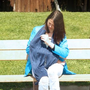 Momgeni Jacket with Built-in Nursing Cover for Breastfeeding